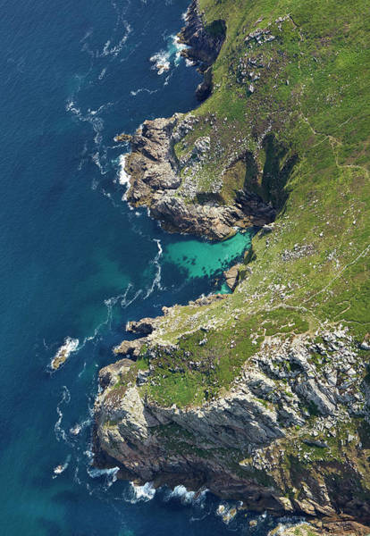 Ives Photograph - Isolated Natural Harbour On Cornish by Allan Baxter