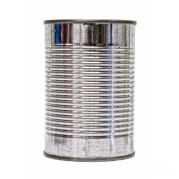 Unopened Wall Art - Photograph - Isolated Tin Can Front by Antony McAulay