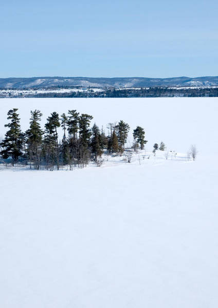Photograph - Isolation Pinheys Point In Winter Ottawa River by Rob Huntley