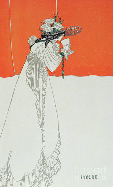 Suicide Painting - Isolde Drinking The Poison by Aubrey Beardsley