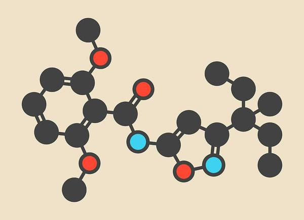 Isoxaben Herbicide Molecule Art Print