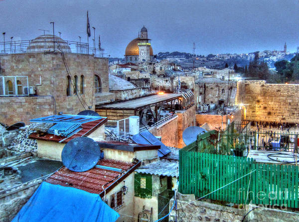 Photograph - Israel At Nite by Doc Braham