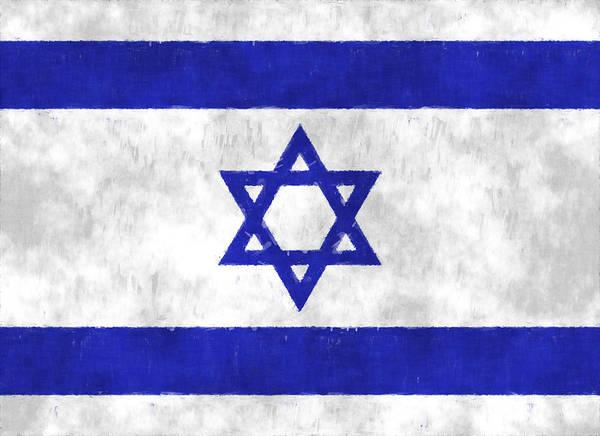Israel Digital Art - Israel Flag by World Art Prints And Designs