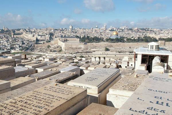 Clark Photograph - Israel, Jerusalem, View Of The Old City by Ellen Clark