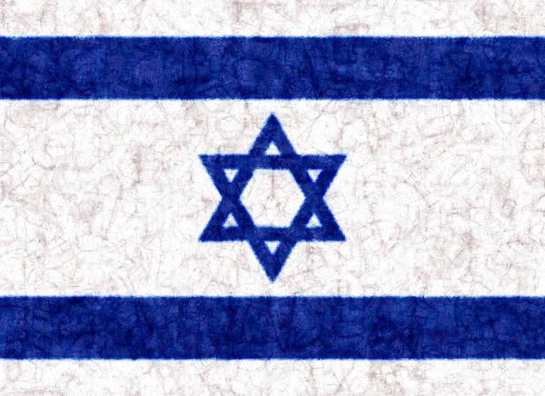 Photograph - Israel Star Of David Flag Batik by Kurt Van Wagner