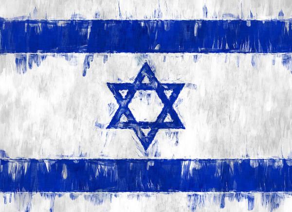 Photograph - Israel Star Of David Flag Painted by Kurt Van Wagner