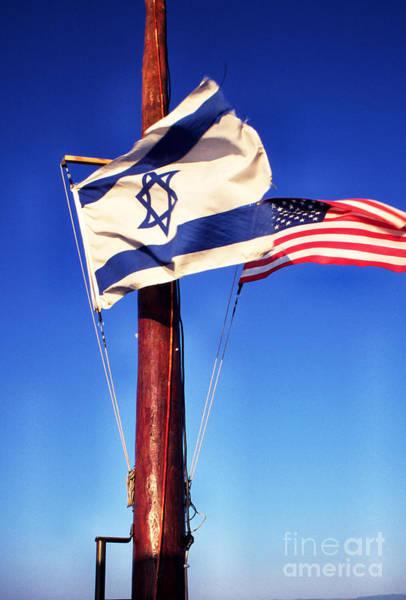 Wall Art - Photograph - Israeli Flag And Us Flag by Thomas R Fletcher
