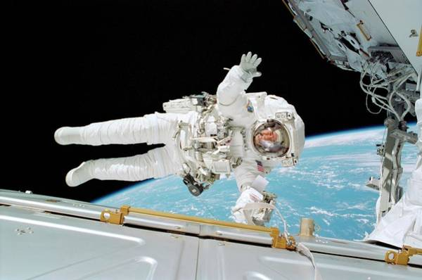 International Space Station Photograph - Iss Construction Space Walk by Nasa