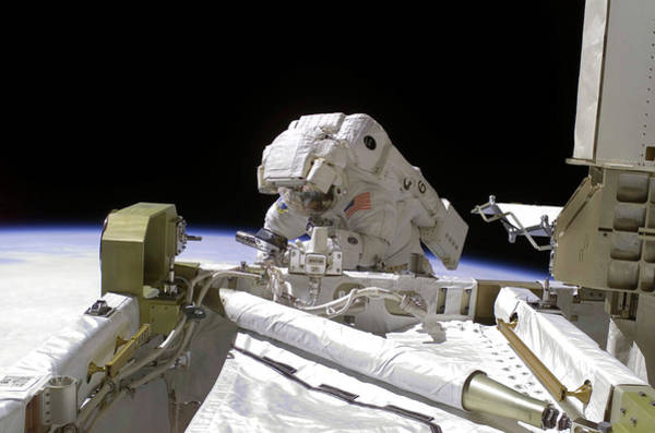 International Space Station Photograph - Iss Spacewalk by Nasa/science Photo Library