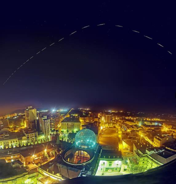 International Space Station Photograph - Iss Trail Over The Dali Museum by Juan Carlos Casado (starryearth.com)
