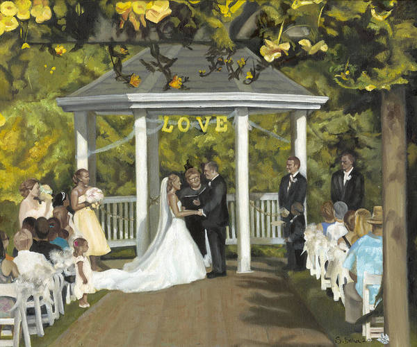 Painting - Issaquah Wedding  by Stephanie Broker
