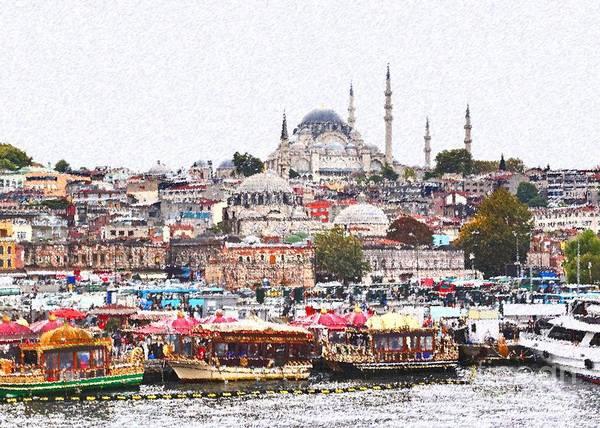 Mosque Digital Art - Istanbul by Dia Karanouh