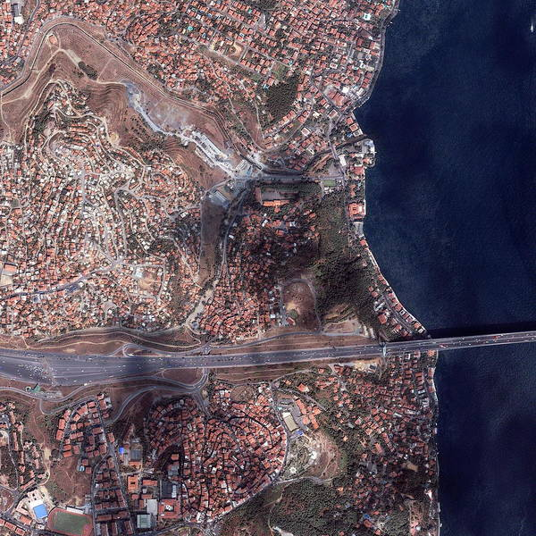 Bosphorus Bridge Photograph - Istanbul by Geoeye/science Photo Library