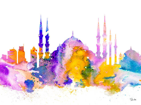 Istanbul Painting - Istanbul by Watercolor Girl
