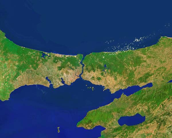 Lakes Region Photograph - Istanbul Province by Worldsat International/science Photo Library