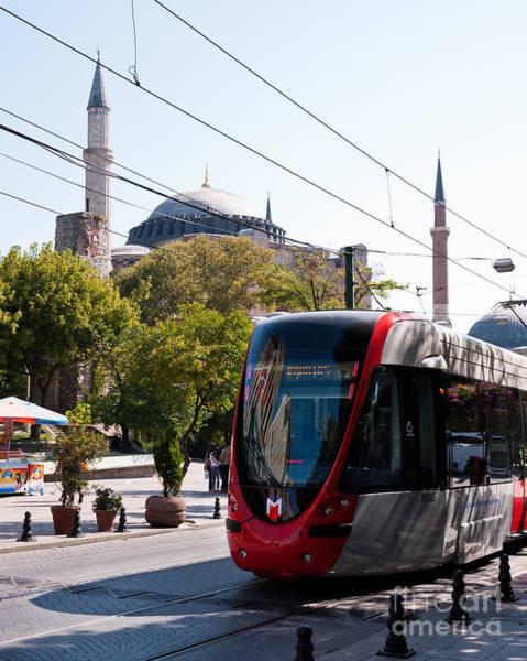 Sancta Sophia Photograph - Istanbul Tram 03 by Rick Piper Photography