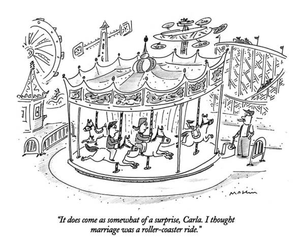 Roller Coasters Drawing - It Does Come As Somewhat Of A Surprise by Michael Maslin