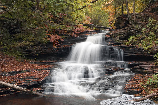 Onondaga Photograph - It Feels Like Fall At Onondaga Falls by Gene Walls