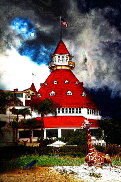 Photograph - It Happened One Night At The Old Del Coronado 5d24270 Stylized by Wingsdomain Art and Photography