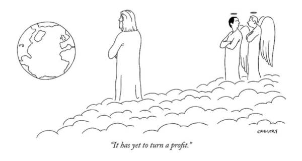 Internet Drawing - It Has Yet To Turn A Profit by Alex Gregory