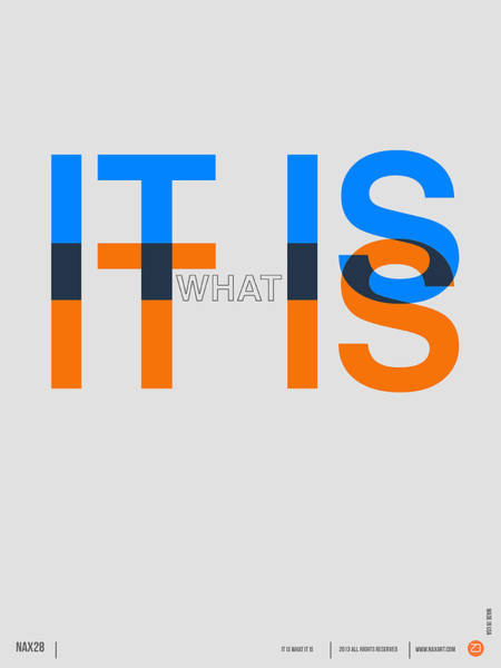 Quote Digital Art - It Is What It Is Poster by Naxart Studio