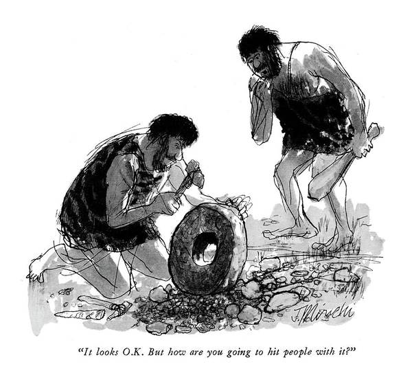 Wheel Drawing - It Looks O.k. But How Are You Going To Hit People by Joseph Mirachi