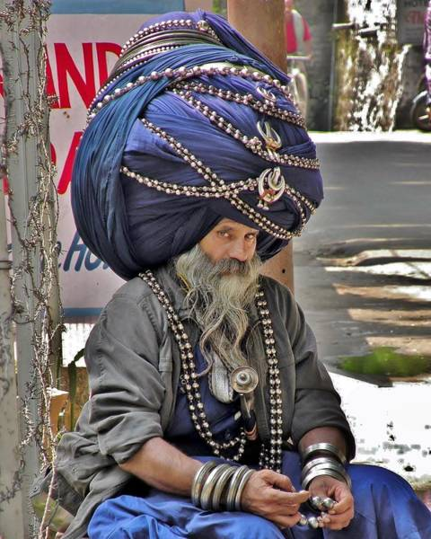 Photograph - Its All In The Head - Rishikesh India by Kim Bemis