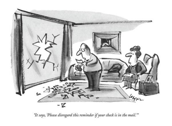 Debts Drawing - It Says, 'please Disregard This Reminder If by Lee Lorenz