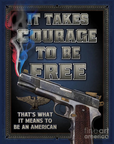 Painting - It Takes Courage by JQ Licensing