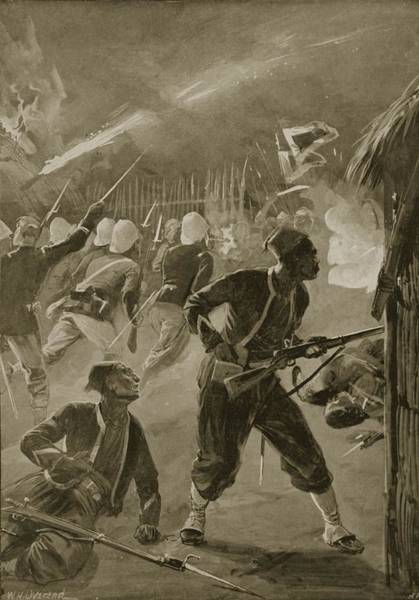 Chinese Drawing - It Was A Night Attack, And The Foe by William Heysham Overend