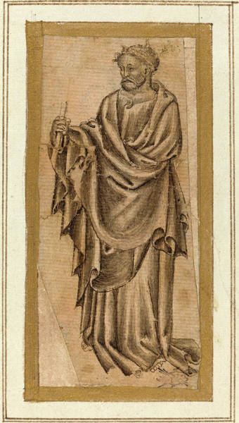 Prepare Drawing - Italian 15th Century Umbrian, Standing Apostle by Quint Lox