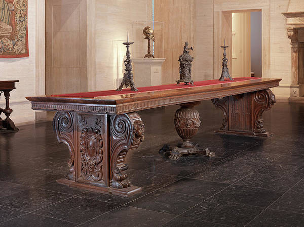 Maple Drawing - Italian 16th Century, Large Walnut Table With Uberti Arms by Quint Lox