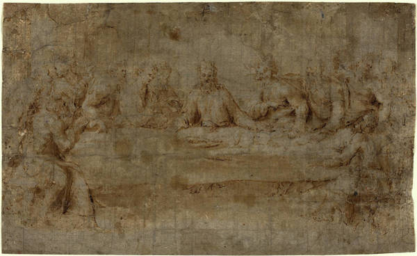 Wall Art - Drawing - Italian 16th Century, The Last Supper, Mid 16th Century by Litz Collection