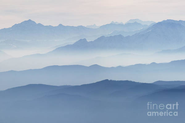 Tramonto Photograph - Italian Alps In The Mist by Matteo Colombo