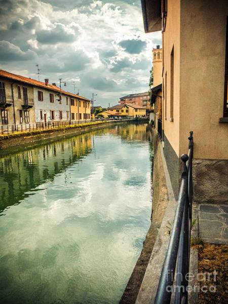 Photograph - Italian Canal With Houses by Silvia Ganora