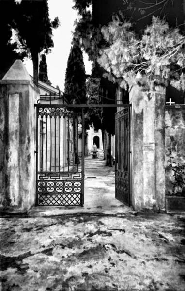 Photograph - Old Italian Cemetery by Donna Proctor
