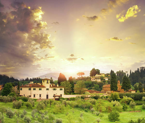 Villa Photograph - Italian  Landscape by Dtokar