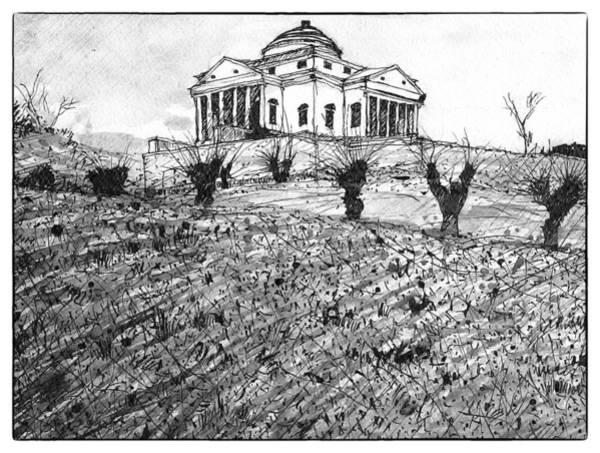 Mansion Mixed Media - Italian Landscape by Patrick Garner