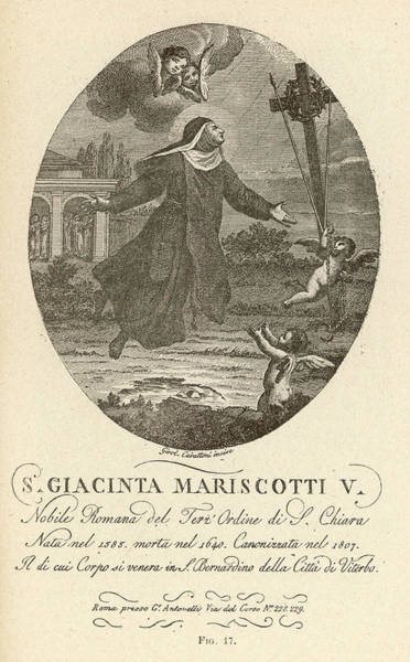 Paranormal Drawing - Italian Nun, Saint Giacinta by Mary Evans Picture Library