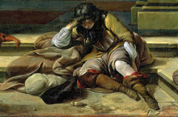 Blanket Painting - Italian Port Scene, Detail by Jan Baptist Weenix