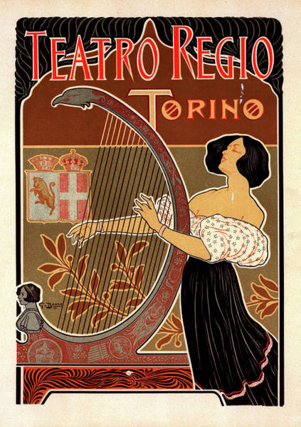 Wall Art - Painting - Italian Poster For Le Théâtre Royal De Turin by Liszt Collection