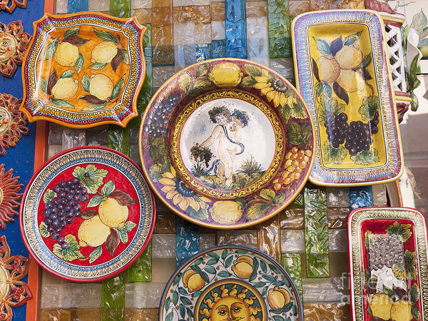 Photograph - Italian Pottery by Brenda Kean