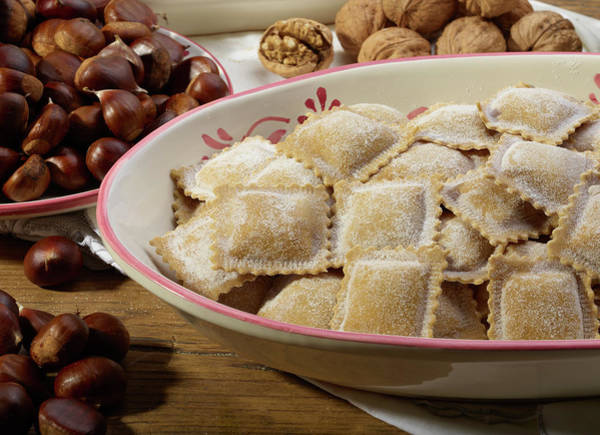 Respect Photograph - Italian Ravioli Pasta With Chestnuts by Buena Vista Images
