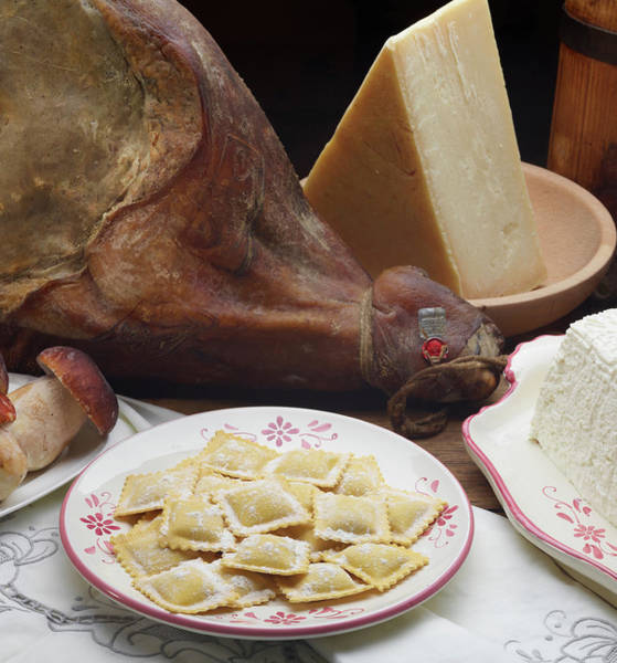 Respect Photograph - Italian Ravioli Pasta With Ham by Buena Vista Images