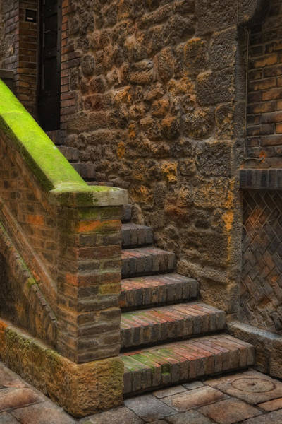 Photograph - Italian Stone Staircase by Bob Coates