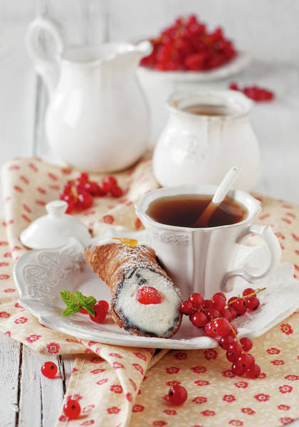 Teapot Photograph - Italian Traditional Sweet Dessert by Oxana Denezhkina