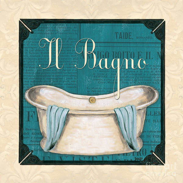 Tub Wall Art - Painting - Italianate Bath by Debbie DeWitt
