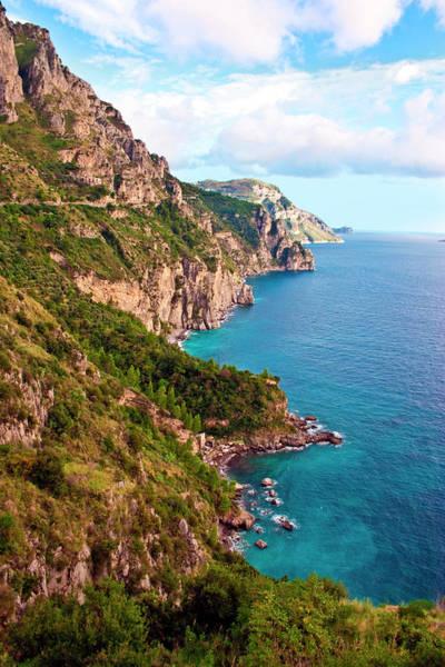 Landforms Photograph - Italy, Campania, Sorrentine Peninsula by Miva Stock
