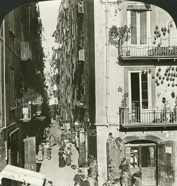 Narrow Street Painting - Italy Florence, 1902 by Granger
