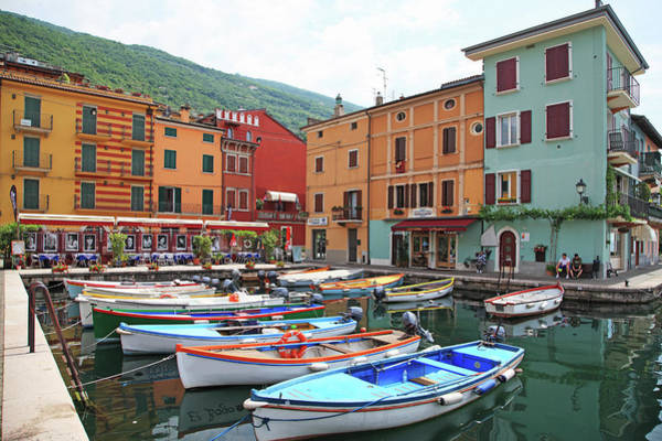 Rowboat Photograph - Italy, Garda Lake by Hiroshi Higuchi